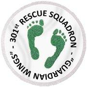 301st Rescue Squadron Round Beach Towel by Julio Lopez