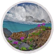 34- Beauty And Power Round Beach Towel