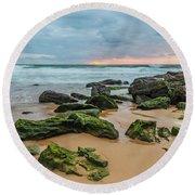 Dawn Seascape Round Beach Towel