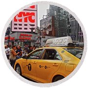 Round Beach Towel featuring the photograph 34th Street New York City by Joan Reese