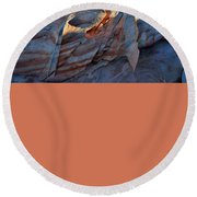 Round Beach Towel featuring the photograph Colorful Sandstone In Valley Of Fire by Ray Mathis
