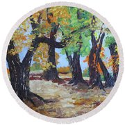 #35 Cottonwood Colors Round Beach Towel