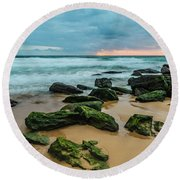 Dawn Seascape Round Beach Towel