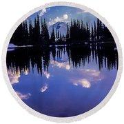 35mm Scan Of Image Lake And Glacier Peak Round Beach Towel