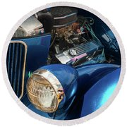 36 Ford 3 Window Coupe Round Beach Towel