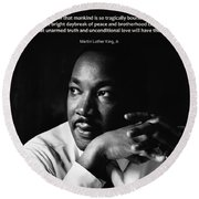 39- Martin Luther King Jr. Round Beach Towel