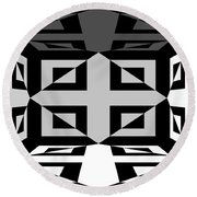 Round Beach Towel featuring the photograph 3d Mg3d4w by Mike McGlothlen