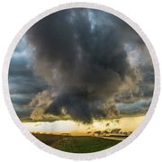 3rd Storm Chase Of 2018 050 Round Beach Towel