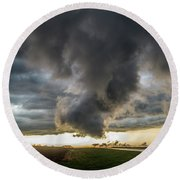 3rd Storm Chase Of 2018 051 Round Beach Towel