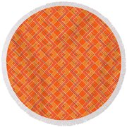 Abstract Orange, White And Red Pattern For Home Decoration Round Beach Towel
