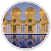 Round Beach Towel featuring the photograph Abu Dhabi by Milena Boeva