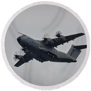 Airbus A400m Round Beach Towel by Shirley Mitchell