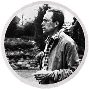 Albert Camus (1913-1960) Round Beach Towel
