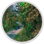 Round Beach Towel featuring the photograph Autumn Colors by Gary Wonning