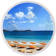 Beach Umbrellas Round Beach Towel