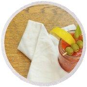 Bloody Mary Round Beach Towel