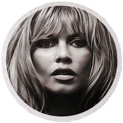 Brigitte Bardot Collection Round Beach Towel
