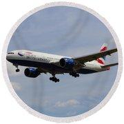 British Airways Boeing 777 Round Beach Towel