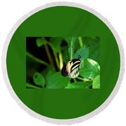 Butterfly No. 4 Round Beach Towel