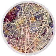 Cali Colombia City Map Round Beach Towel