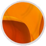 Californian Poppies Round Beach Towel