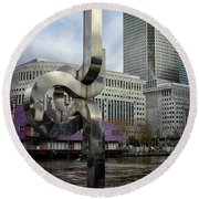 Canary Wharf Round Beach Towel