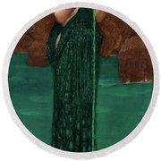Round Beach Towel featuring the painting Circe Invidiosa by John William Waterhouse