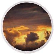 Cloudscape Of Orange Sunset Riga Latvia Artmif Round Beach Towel