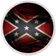 Confederate Flag 11 Round Beach Towel
