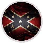 Confederate Flag 11 Round Beach Towel