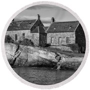 Cove Harbour Round Beach Towel