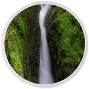 Dollar Glen In Clackmannanshire Round Beach Towel