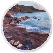 El Golfo - Lanzarote Round Beach Towel by Joana Kruse