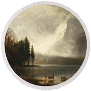 Estes Park, Colorado, Whyte's Lake Round Beach Towel