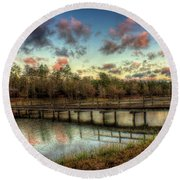 Flint Creek Round Beach Towel