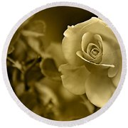 Floral Gold Collection Round Beach Towel by Marvin Blaine
