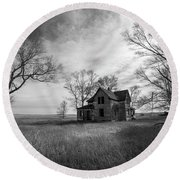Round Beach Towel featuring the photograph Forgotten  by Aaron J Groen