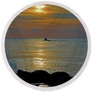 Round Beach Towel featuring the photograph 4- Into The Day by Joseph Keane