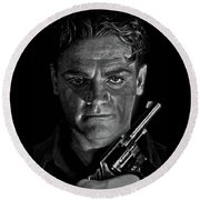 James Cagney - A Study Round Beach Towel