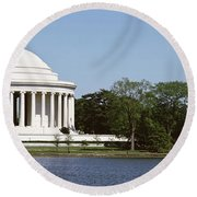 Jefferson Memorial, Washington Dc Round Beach Towel