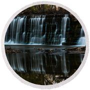 Kansas Waterfall Round Beach Towel