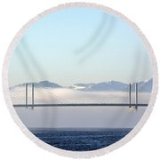Kessock Bridge, Inverness Round Beach Towel