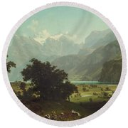 Lake Lucerne Round Beach Towel