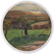Landscape From Bretagne Round Beach Towel