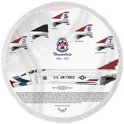 Mcdonnell Douglas F-4e Phantom II Thunderbirds Round Beach Towel