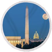 4 Monuments Round Beach Towel