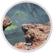Mount Etna Round Beach Towel