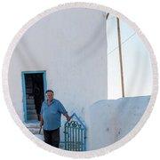 Mykonos / Greece Round Beach Towel