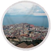 Naples Italy Round Beach Towel