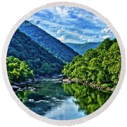 New River Gorge National River Round Beach Towel